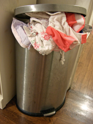 overfilled diaper pail