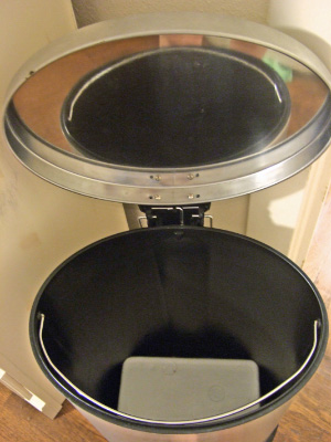 platform inside diaper pail